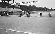 """1304A-159A. """"Motorcycle race. Start & finish"""" June 14, 1914. See Oregonian 6/15/1914 pg. 14. results: """"Rose City track… Event 3. open 15-mile race for motorcycles — Simmonds, on Excelsior, first; Cogburne, on Indian, second; Brant, on Thor, third. Time, 13 minutes 23 seconds. (Rose City Park Racetrack)"""