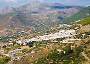 Pueblos Blancos white village of Alcaucin, Malaga province, Spain