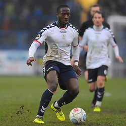 TELFORD COPYRIGHT MIKE SHERIDAN 19/1/2019 - Dan Udoh of AFC Telford during the Vanarama Conference North fixture between AFC Telford United and Kidderminster Harriers