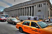 USA, Post Office. Taxi, New York City, NYC, Manhattan
