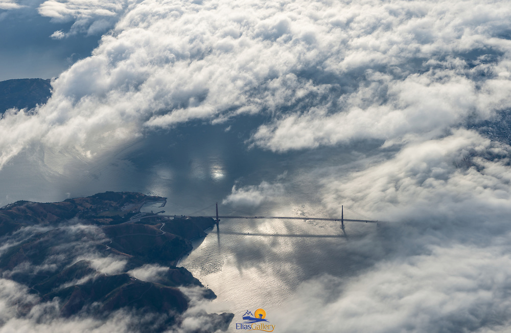 San Francisco from airplane window.