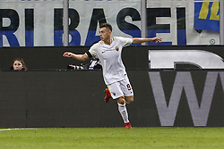 January 21, 2018 - Rome, Italy - Olympic Stadium, MILAN, Italy - 21/01/2018..Stephan El Shaarawy of Roma celebrating hi goal against Inter Milan during their Italian Serie A soccer match...Credit: Giampiero Sposito/Pacific Press (Credit Image: © Giampiero Sposito/Pacific Press via ZUMA Wire)