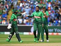 Cricket - 2019 ICC Cricket World Cup - Group Stage: Bangladesh vs. India<br /> <br /> Bangladesh's Shakib Al Hasan celebrates taking the wicket of India's Rishabh Pant caught by Mosaddek Hossain for 48, at Edgbaston<br /> <br /> COLORSPORT/ASHLEY WESTERN