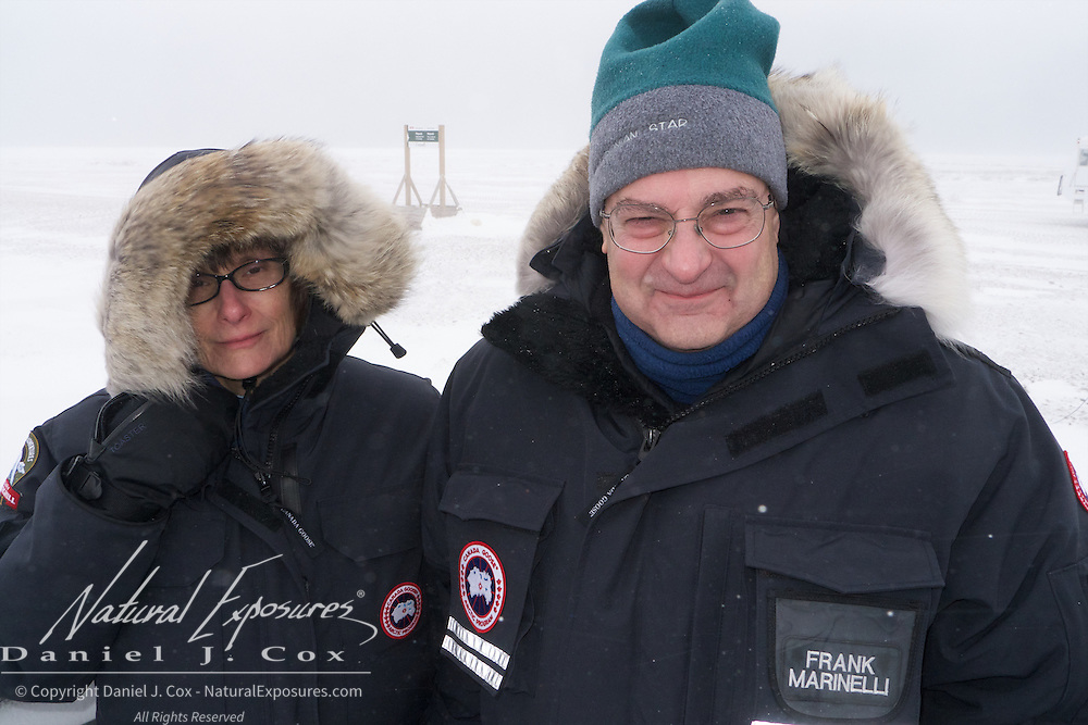 Frank Marinelli and his wife Alesia Ranney-Marinelli on the back of a Tundra buggy. Cape Churchill 2012