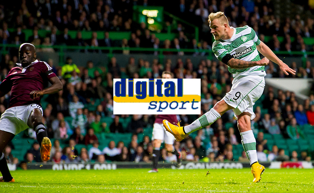 24/09/14 SCOTTISH LEAGUE CUP 3RD RND<br /> CELTIC v HEARTS<br /> CELTIC PARK - GLASGOW<br /> Celtic striker John Guidetti opens the scoring
