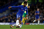 Michy Batshuayi of Chelsea in action. The Emirates FA Cup, 3rd round replay match, Chelsea v Norwich City at Stamford Bridge in London on Wednesday 17th January 2018.<br /> pic by Steffan Bowen, Andrew Orchard sports photography.