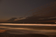 Het strand bij avondlicht, Scheveningen, Den Haag Beach