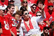 Utes fan Jim Littleton is dressed like Elvis during Utah's NCAA college football game against UNLV at Rice-Eccles Stadium, Saturday, Sept. 11, 2010, in Salt Lake City, Utah.  (AP Photo/Colin E. Braley)