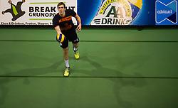 17-04-2016 NED: Play off finale Abiant Lycurgus - Seesing Personeel Orion, Groningen<br /> Abiant Lycurgus is door het oog van de naald gekropen tijdens het eerste finaleduel om het landskampioenschap. De Groningers keken in een volgepakt MartiniPlaza tegen een 0-2 achterstand aan tegen Seesing Personeel Orion, maar mede dankzij invaller Gino Naarden kwam Lycurgus langszij en pakte het de wedstrijd met 3-2 / Joris Marcelis #5 of Orion