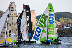 Kiel - Germany, 28th of August 2009. iShares cup. First day of racing...The first racing day consisting of 8 races. Picture shows Ecover racing on the opening day of the iShares Cup in Germany, Kiel