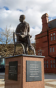 Ivor Novello 1893-1951 bronze sculpture statue, Cardiff Bay, Cardiff, South Wales, UK by Peter Nicholas 2013