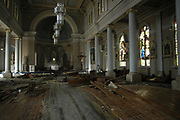 St. Stanislaus church in Bat=y St. Louis afterHurricane Katrina blew through town Thursday Sept. 1,2005.Katrina is the worst storm to ever hit American soil in history.(Photo/SuziAltman)