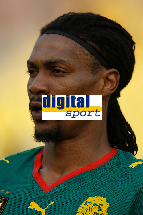 Photo: Steve Bond/Richard Lane Photography.<br />Egypt v Cameroun. Africa Cup of Nations. 22/01/2008. Rigobert Song of Cameroon and galatasary before kick off