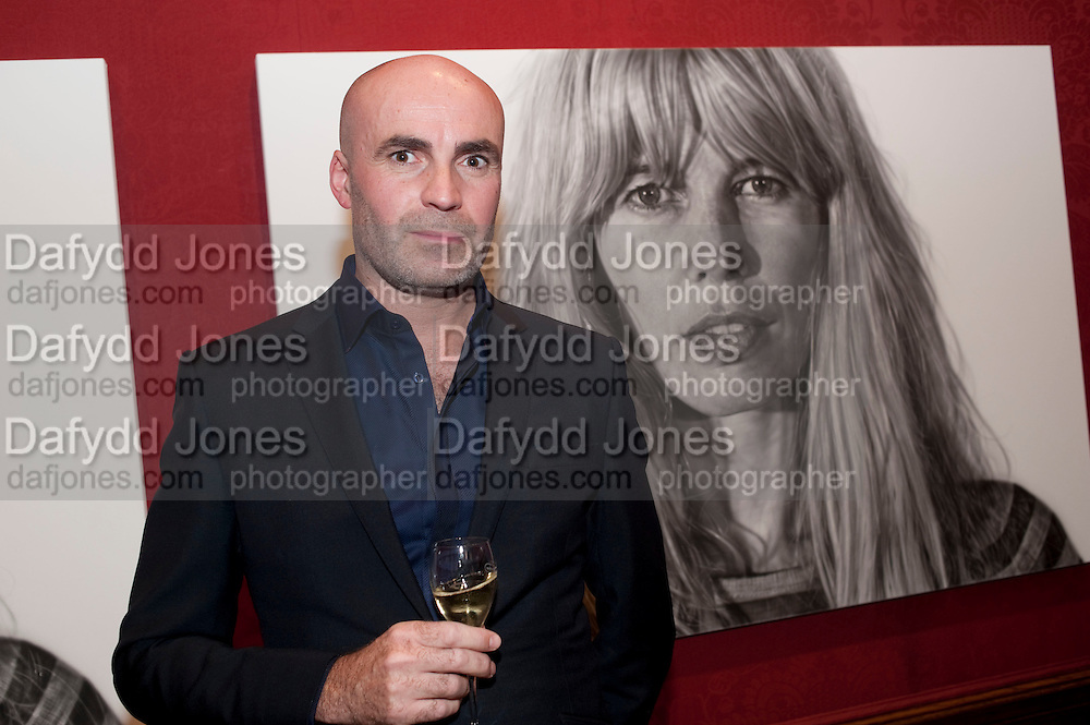 JASON BROOKS, Capturing Claudia. Interpretations of Claudia Schiffer by leading contemporary artists for Harpers Bazaar magazine. Colnaghis Gallery. Old Bond st. and afterwards at Locanda Locatelli's restaurant. Portman sq. London. 2 November 2009.