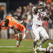 South Carolina's D.J. Swearinger lays out Clemson's Andre Ellington at Death Valley in Clemson, S.C. ©Travis Bell Photography