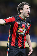 Harry Arter of Bournemouth shouting at this players.  Barclays Premier league match, Chelsea v AFC Bournemouth at Stamford Bridge in London on Saturday 5th December 2015.<br /> pic by John Patrick Fletcher, Andrew Orchard sports photography.