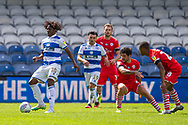 Queens Park Rangers midfielder Eberechi Eze (10) controls the ball during the EFL Sky Bet Championship match between Queens Park Rangers and Barnsley at the Kiyan Prince Foundation Stadium, London, England on 20 June 2020.