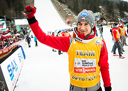 Stefan Kraft (AUT) celebrates after the Ski Flying Hill Men's Individual Competition at Day 4 of FIS Ski Jumping World Cup Final 2017, on March 26, 2017 in Planica, Slovenia. Photo by Vid Ponikvar / Sportida