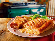 Cheese lattice pastry & beans meal