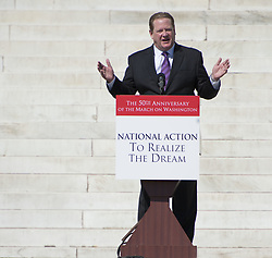 Aug. 24, 2013 - Washington, District of Columbia, U.S - Civil Rights activist, and TV Host, ED Schultz  gives a speech at the  the 50th Anniversary of The March On Washington (Credit Image: © Ricky Fitchett/ZUMAPRESS.com)