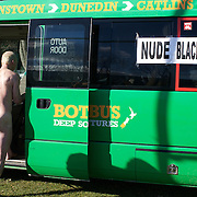 The' Nude Blacks' return to the team bus after the 'Nude Blacks' versus a Fijian invitation side played at Logan Park, Dunedin as an unofficial curtain raiser match before the New Zealand V Fiji test match in Dunedin, New Zealand...The 'Nude Blacks' won the match 20-10 with 21 year old female player Rachel Scott, a member of the Otago women's rugby team named player of the day. .Over 500 people turned up to watch the match which included a blind referee, Julie Woods and three clothed streakers who were ejected from the playing area..The 'Nude Blacks' traditionally play games before test matches in Dunedin and were using this match as a warm up for three nude games planned during the IRB Rugby World Cup in New Zealand with teams from Argentina, Italy, England and Ireland involved.  Matches will be played before World Cup games in Dunedin. New Zealand. 22nd July 2011. Photo Tim Clayton