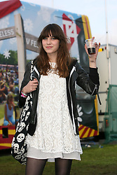 Channel 4's Alexa Chung at T in the Park, Friday 6 July 2007..T in the Park festival took place on the 6th, 7th and 8 July 2007, at Balado, near Kinross in Perth and Kinross, Scotland. This was the first time the festival had been held over three days..Pic ©2011 Michael Schofield. All Rights Reserved..