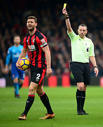 Steve Cook of Bournemouth is shown a yellow card. - Mandatory by-line: Alex James/JMP - 14/01/2018 - FOOTBALL - Vitality Stadium - Bournemouth, England - Bournemouth v Arsenal - Premier League