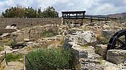 Israel, Maagan Michael, Nahal Taninim - Crocodile Stream national park, The ancient floodgate device and Roman Aqueduct