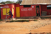 Local rustic native butcher shop, Nairobi, Kenya