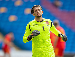 CARDIFF, WALES - Saturday, June 5, 2021: Albania's goalkeeper Gentian Selmani during an International Friendly between Wales and Albania at the Cardiff City Stadium in their game before the UEFA Euro 2020 tournament. (Pic by David Rawcliffe/Propaganda)