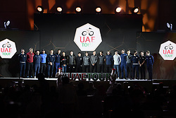 February 23, 2019 - Abu Dhabi - Foto LaPresse - Fabio Ferrari.23 Febbraio 2019 Abu Dhabi (Emirati Arabi Uniti).Sport Ciclismo.UAE Tour 2019 - Presentazione squadre.Nella foto: .foto di gruppo finale.Photo LaPresse - Fabio Ferrari.February 23, 2019 Abu Dhabi (United Arab Emirates) .Sport Cycling.UAE Tour 2019 - Team presentation.In the pic: group photo (Credit Image: © Fabio Ferrari/Lapresse via ZUMA Press)