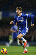 Marcos Alonso of Chelsea in action. Premier league match, Chelsea v Tottenham Hotspur at Stamford Bridge in London on Saturday 26th November 2016.<br /> pic by John Patrick Fletcher, Andrew Orchard sports photography.