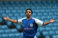 MILLWALL VS BURNLEY<br /> 28TH  FEBRUARY 2004<br /> PAUL IFILL CELEBRATES SCORING THE OPENING GOAL.<br /> Sportsbeat Images