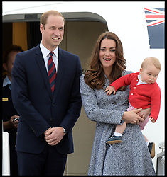 Prince George's nanny aria Teresa Turrion Borrallo leaves with The Duke and Duchess of Cambridge with their son Prince George leave Canberra airport, Australia, as they head back to the UK on the final day of their 19 day tour of New Zealand and Australia, Friday, 25th April 2014. Picture by Andrew Parsons / i-Images