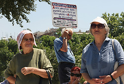 June 13, 2017 - Athens, Greece - Greek Pensioners protest against Government's austerity policy in Thessaloniki , June 13, 2017  (Credit Image: © Grigoris Siamidis/NurPhoto via ZUMA Press)