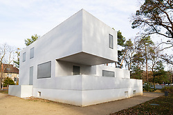 Bauhaus style Gropius Haus now an art gallery one of the Meisterhauser  in Dessau , Germany.