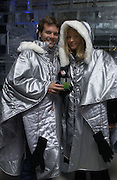 Nicholas Taube and Oksana Kolomenskaya. Opening of the Absolut Icebar. Heddon St. London. 29 September 2005. ONE TIME USE ONLY - DO NOT ARCHIVE © Copyright Photograph by Dafydd Jones 66 Stockwell Park Rd. London SW9 0DA Tel 020 7733 0108 www.dafjones.com