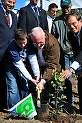 "Israel, Mount Carmel, Isfiya, Jewish National Fund has organised a mass tree planting in the burnt Carmel forest for Tu Bishvat. Reuven ""Rubi"" Rivlin (born 9 September 1939) The speaker of the Knesset plants a tree"