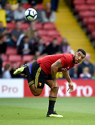 Watford's Troy Deeney during the pre-match warm up