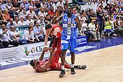 DESCRIZIONE : Campionato 2014/15 Dinamo Banco di Sardegna Sassari - Olimpia EA7 Emporio Armani Milano Playoff Semifinale Gara6<br /> GIOCATORE : Samardo Samuels Alessandro Gentile Cheikh Mbodj<br /> CATEGORIA : Fair Play<br /> SQUADRA : Dinamo Banco di Sardegna Sassari<br /> EVENTO : LegaBasket Serie A Beko 2014/2015 Playoff Semifinale Gara6<br /> GARA : Dinamo Banco di Sardegna Sassari - Olimpia EA7 Emporio Armani Milano Gara6<br /> DATA : 08/06/2015<br /> SPORT : Pallacanestro <br /> AUTORE : Agenzia Ciamillo-Castoria/L.Canu