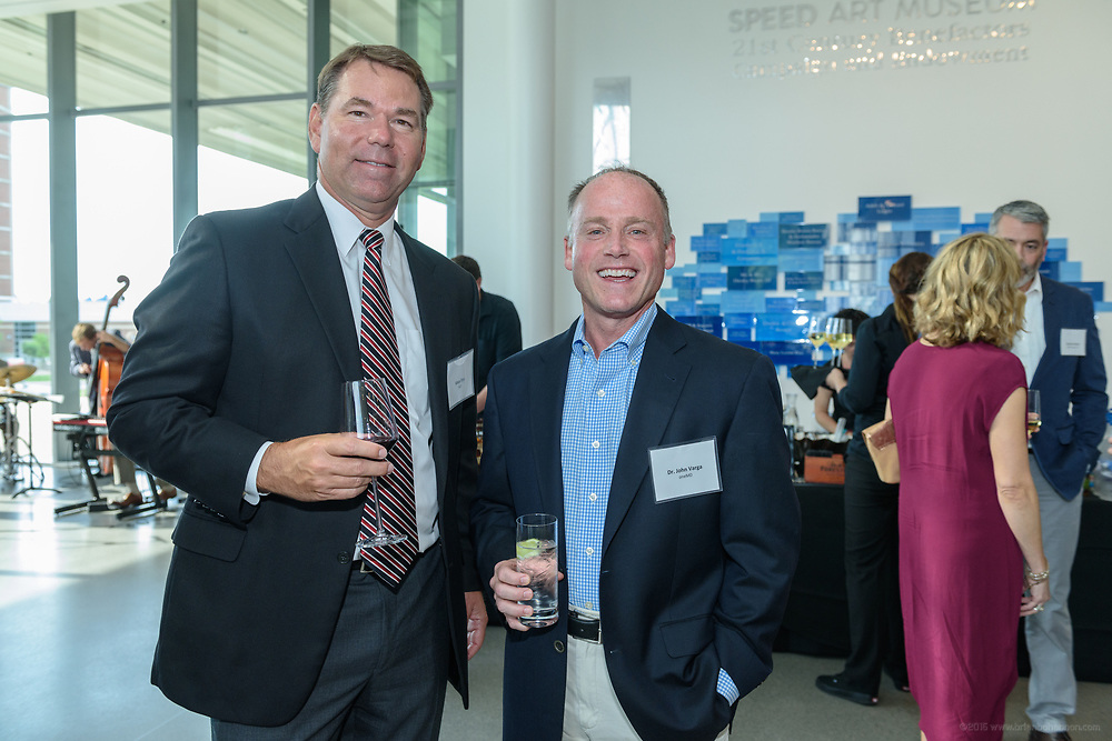 Vince Tyra and Dr. John Varga at the 10-year anniversary celebration of Republic Bank's Private Banking and Business Banking divisions Wednesday, May 17, 2017, at the Speed Art Museum in Louisville, Ky. (Photo by Brian Bohannon)