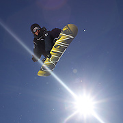 Nathan Johnstone, Australia, in action during the Men's Half Pipe Finals in the LG Snowboard FIS World Cup, during the Winter Games at Cardrona, Wanaka, New Zealand, 28th August 2011. Photo Tim Clayton.