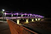 Beer Sheva bridge illuminated at night