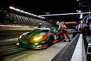 January 22-26, 2020. IMSA Weathertech Series. Rolex Daytona 24hr. #48 Paul Miller Racing Lamborghini Huracan GT3, GTD: Bryan Sellers, Madison Snow, Corey Lewis, Andrea Caldarelli pitstop