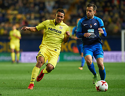 November 30, 2017 - Vila-Real, Castellon, Spain - Carlos Bacca of Villarreal CF and Jon Garcia of SD Ponferradina during the Copa del Rey, Round of 32, Second Leg match between Villarreal CF and SD Ponferradina at Estadio de la Ceramica on november 30, 2017 in Vila-real, Spain. (Credit Image: © Maria Jose Segovia/NurPhoto via ZUMA Press)