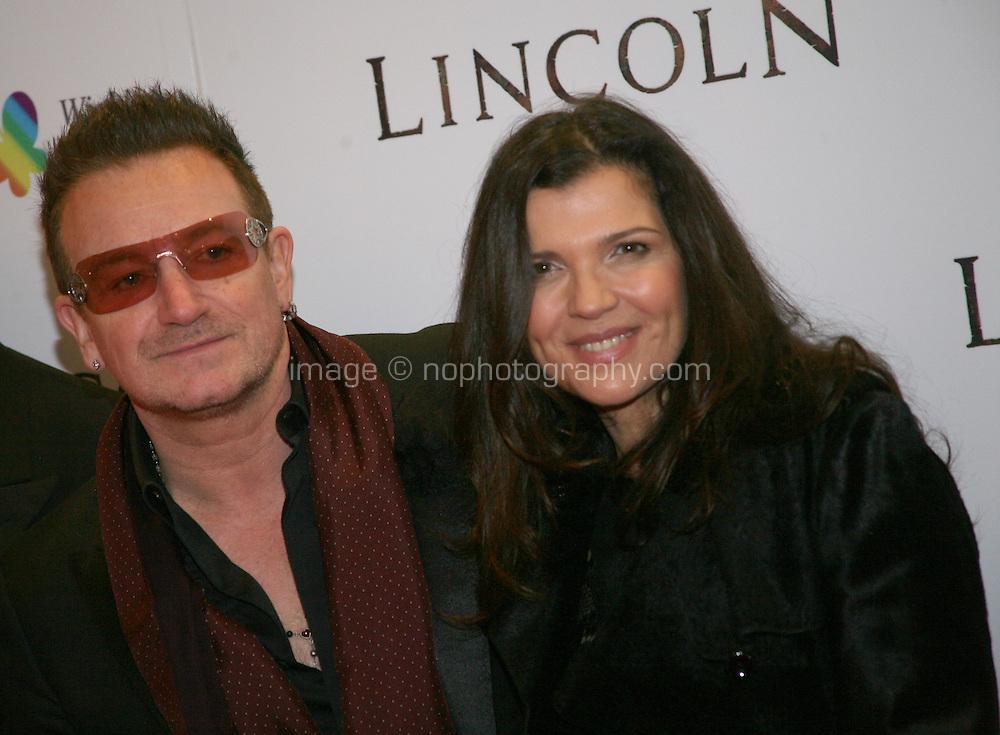 Bono, Ali Hewson, at the Lincoln film premiere Savoy Cinema in Dublin, Ireland. Sunday 20th January 2013.