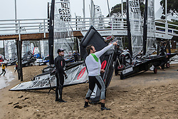 Rain and postponement at Day 4 of the McDougall + McConaghy 2015 Moth Worlds, Sailing Anarchy and Sperry Top-Sider Moth Worlds coverage 2015, Sorrento, Australia. January 11th 2015. Photo © Sander van der Borch.