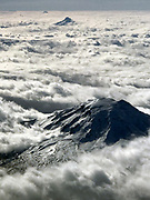 Volcanoes line up all the way to the Sisters in Oregon. (Dean Rutz / The Seattle Times)