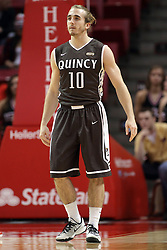 29 December 2014:  Grant Meyer during an NCAA non-conference interdivisional exhibition game between the Quincy University Hawks and the Illinois State University Redbirds at Redbird Arena in Normal Illinois.