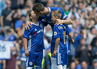 Football - 2016 / 2017 Premier League - Chelsea vs. Sunderland <br /> <br /> A tender moment as John Terry of Chelsea kisses his daughter as he prepares to play his last Premier League game at Stamford Bridge.<br /> <br /> COLORSPORT/DANIEL BEARHAM
